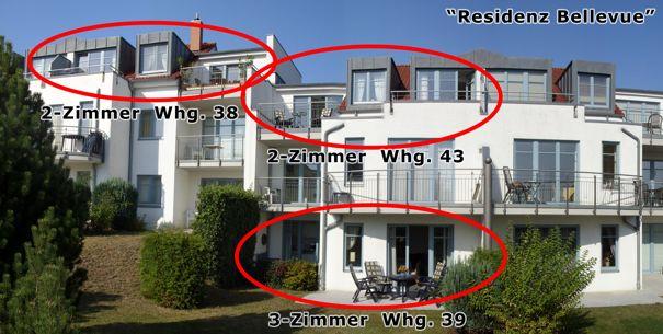 Residenz Bellevue in Zinnowitz auf Usedom, Ferienwohnungsvermittlung Herrmann
