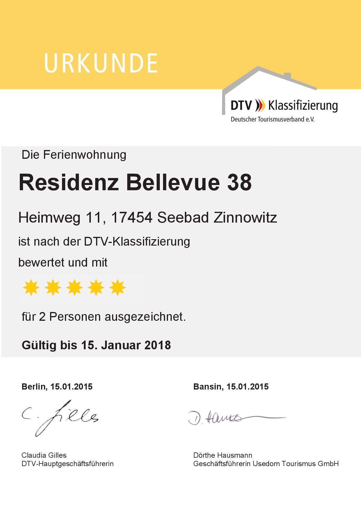 Ferienwohnung 38, 5 Sterne Zinnowitz, Residenz Belleveue, Heimweg 7-14