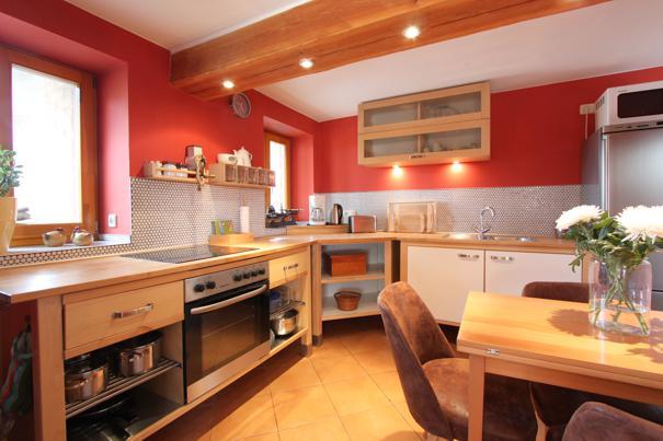 Küche in der Erdgeschosswohung am Rieck, Ferienwohnungen Herrmann auf Usedom