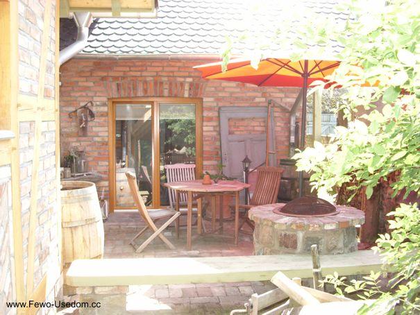 Erdgeschoss Ferienwohnung Terrasse