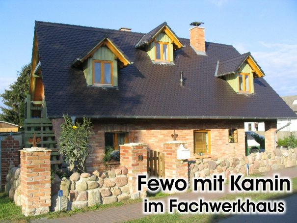 2 Zimmer Ferienwohnung mit Kamin in einem liebevoll eingerichteten Fachwerkhaus in Zempin