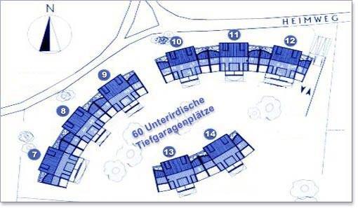 Lageplan Residenz Bellevue in Zinnowitz